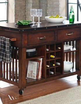 Top Line Furniture HE 5400-07 Top Line Kitchen Cart