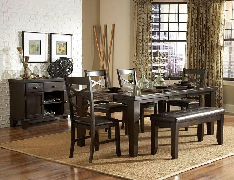 "Top Line Furniture HE 2438-82&S Top Line 7PC Dining Set 18"" Leaf  (1TB,6SC)"