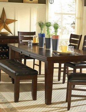 "Top Line Furniture HE 586-82&14&S Top Line 6PC Dng Set 18""Leaf(1TB,B,4C)"