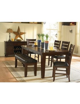 "Top Line Furniture HE 586-82&14&S Top Line 6PC Dng Set 18""Leaf(1TB,B,4C)"