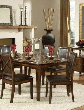 "Top Line Furniture HE 727-72&S Top Line 7PC Dining Set 18""Leaf(1TB,6SC)"