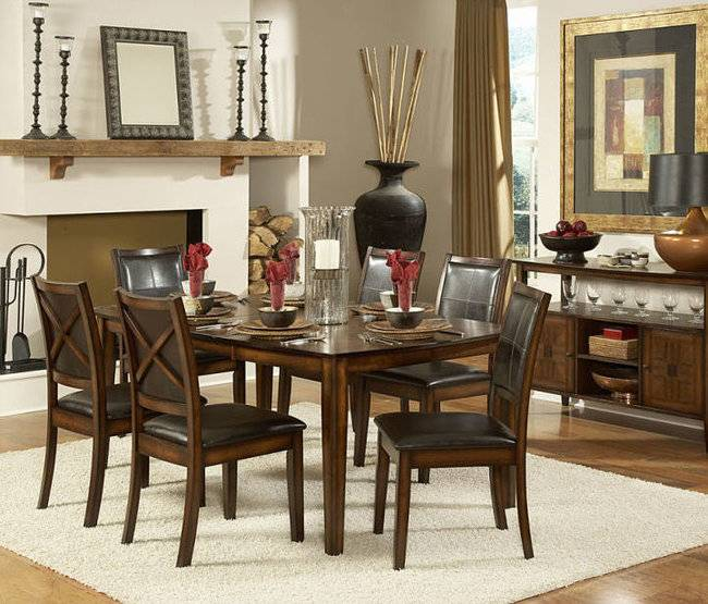"Top Line Furniture HE 727-72&S Top Line  7PC Dining Set 18""Leaf(1TB,6SC)"