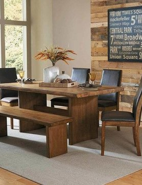 Top Line Furniture HE 5479-72&14&S Top Line 6PC DNING Set (1TB,4SC,BN)