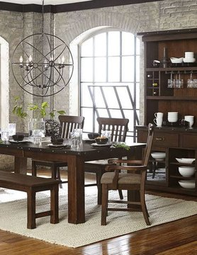 """Top Line Furniture HE 5400-94&A&S&13 Top LIne  6PC Dng Set 21""""Leaf (1TB,2A,2S,1B)"""