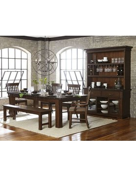 "Top Line Furniture HE 5400-94&A&S&13 Top LIne  6PC Dng Set 21""Leaf (1TB,2A,2S,1B)"
