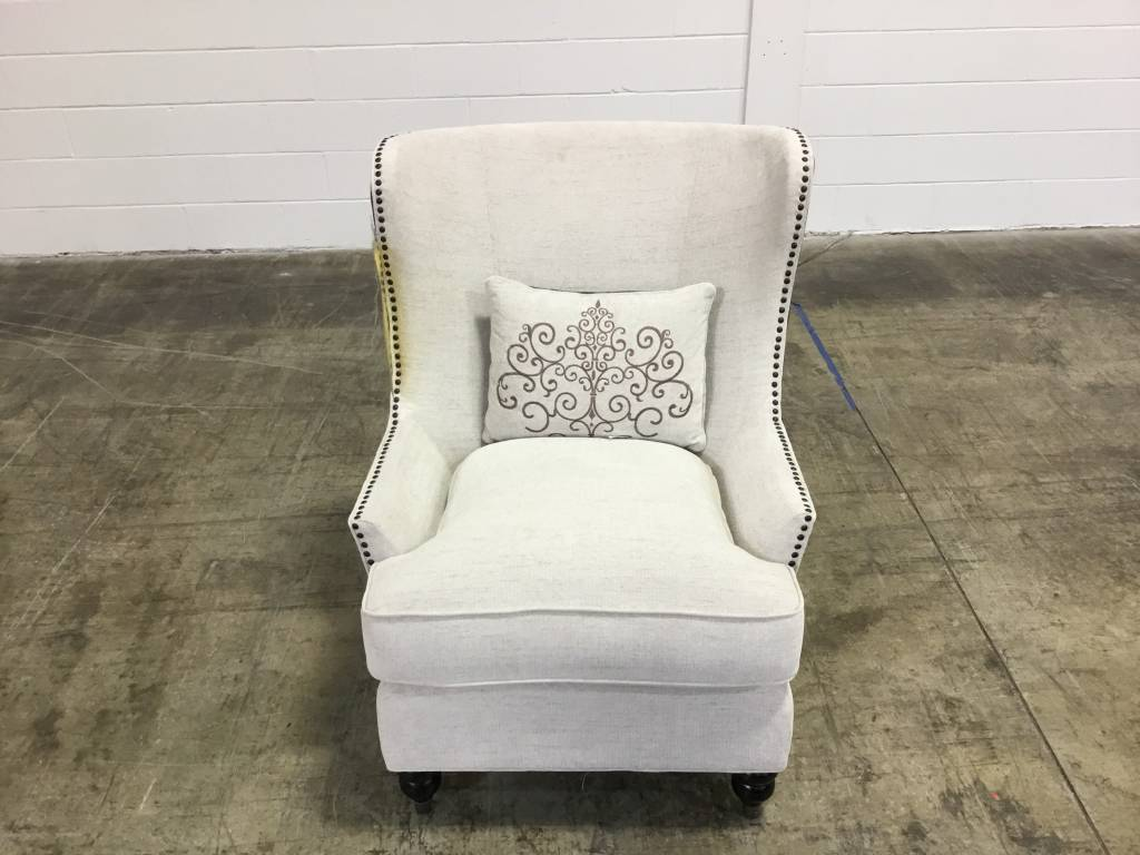 Top Line Furniture HE 1257F1S Top Line Accent Chair 1 Kidney Pllw