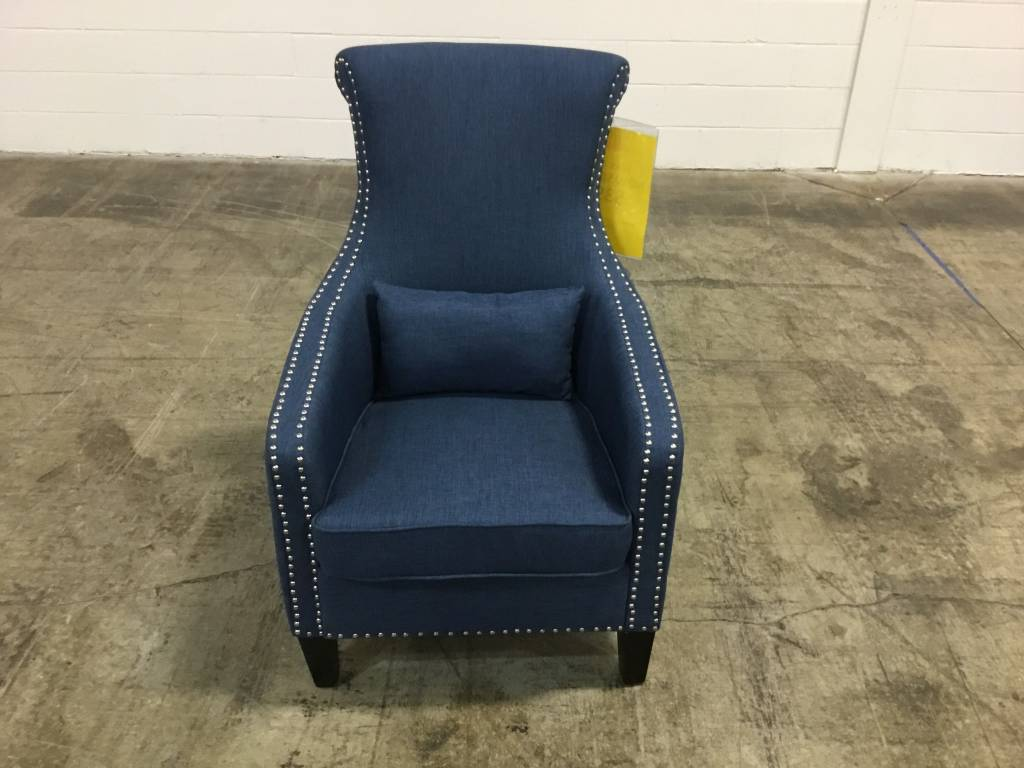 Top Line Furniture HE 1270F3S Top Line Blue Accent Chair