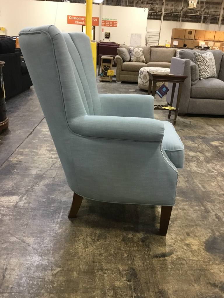 Top Line Furniture HE 1260F2S Top Line Blue Accent Chair