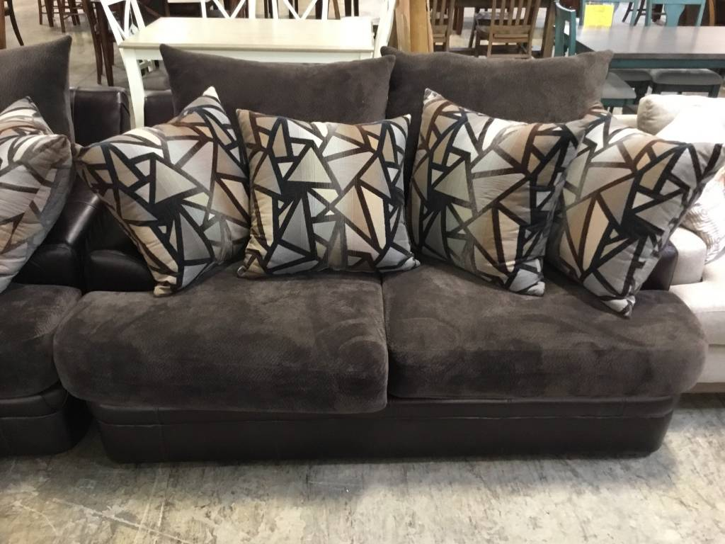 100Balboa-SOFLSTChampChoc John Michael STNRY 2PC Set Sofa/Love