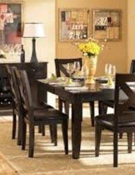 "Top Line Furniture HE 1372-78&S Top Line  7PC Dining Set 18""Leaf (1TB,6SC)"