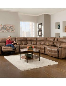 Franklin 46601&2&3&7&77&99-833715 Franklin Stallion 6PC RNCLR Sectional