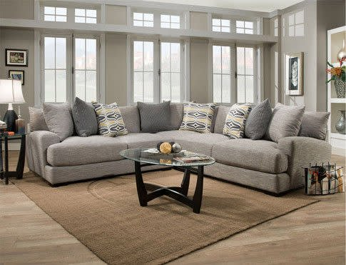 Franklin 80803&04&59&60-351005CLEAR Barton 4PC Sectional