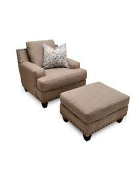 Franklin 86418&88-352518 Hobbs STNRY 2PC CHAIR AND OTTOMAN SET