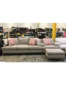 SlaterSFCH-MonroeHemp EJ Lauren STNRY 2PC Set Sofa/Chair