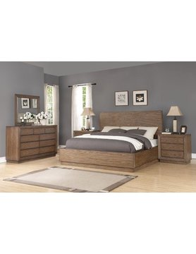 Flexsteel/Wynwood W1044-91KCS Flexsteel/Wynwood Maximus 5PC KING Bed Set(K,D,M,2N)