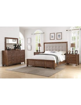 Flexsteel/Wynwood W1048-90KCS Flexsteel/Wynwood Hampton 5PC KING Bed Set(K,D,M,2N)