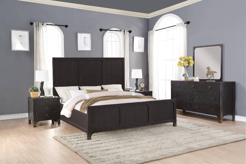 W1037 91KCS Flexsteel/Wynwood Homestead 5PC KING Bed Set(K,D,M,2N)
