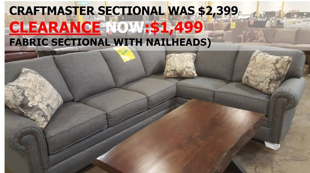 Craftmaster 756555&552-BahamaCLEAR CM STNRY Sectional