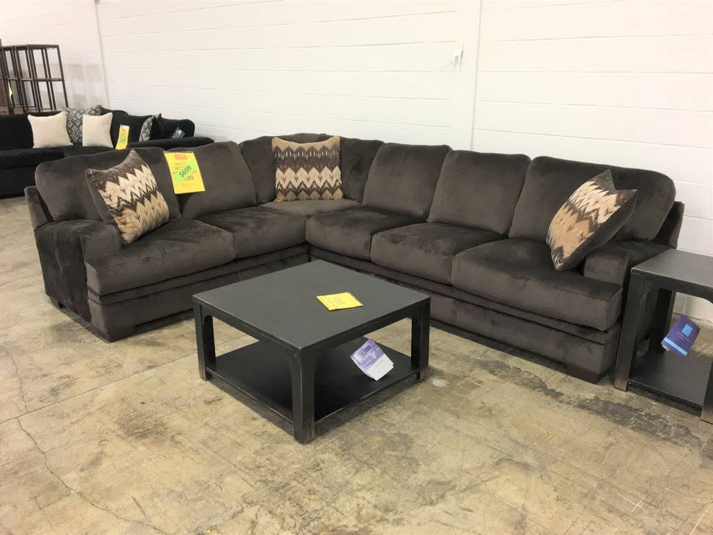 CLEARANCE8800-OlyChoc Hughes STNRY Sectional