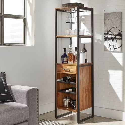 Top Line Furniture HE CLEARANCEE344K-19DISC Top LIne Metal Wine Tower Discontinued