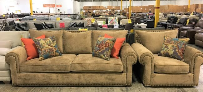 200AClassic-SOFCHRAsiaOttCLEAR John Michael STNRY 2PC Set Sofa/Chair