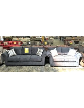 5100SF&LV-FABDISC Hughes Furby STNRY Sofa & Loveseat 2PC Set