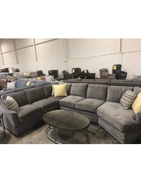 Craftmaster F943156&33&21-Burnish Craftmaster STNRY Sectional DISCONTINUED
