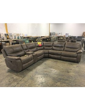 Parker House Furniture MREM-PACKA-ST Parker House Remus PWR RCNLR 6PC Sectional