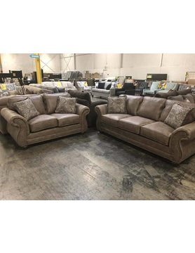 17400S&LS-JetsonGinger Hughes STRNY 2PC Set Sofa/Love