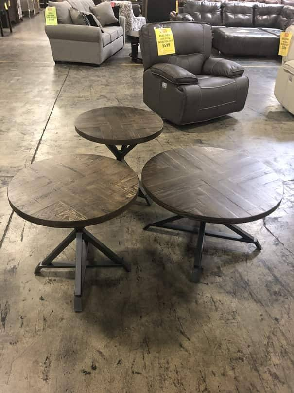 Top Line Furniture HE 5606-313PC Top Line Fideo 3PC Occasional Table Set (1CK, 2EN)