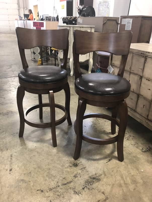 Top Line Furniture HE 346-24PUSETOF2DISC Top Line Swivel CNTR Height Stools SET OF 2