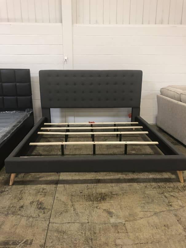 Top Line Furniture HE E954BK-1&3DGF Top Line Fabric Eastern King Bed