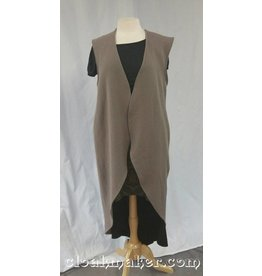 bf5668fdf4 R416 - Black Wool Monk Robe with Attached Cowl and Pockets.  199.00. J572 -  Taupe Wool Open Front Tunic Vest - M L