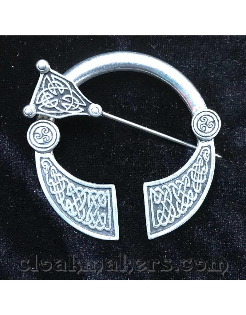in product brooch natural a or handcrafted whitby pin black jet celtic gems small scarf northumbria