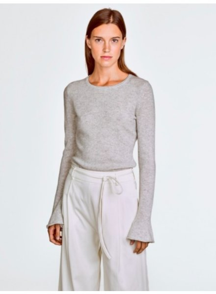 WHITE + WARREN FLUTED CUFF CREWNECK