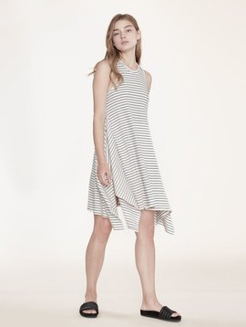 KINLY NAVY STRIPE RIB DRESS