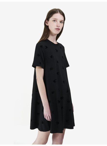 MCQ TSHIRT DRESS W/ BLUE BIRDS