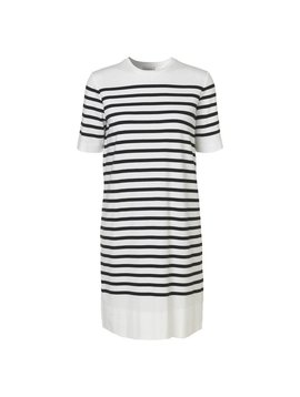 MALENE BIRGER BLACK STRIPE DRESS