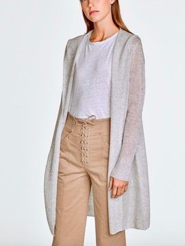 WHITE & WARREN FEATHERWEIGHT HOODED CARDIGAN