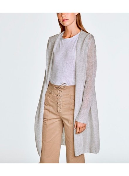 WHITE + WARREN FEATHERWEIGHT HOODED CARDIGAN