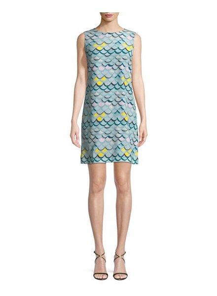 M MISSONI Sea Breeze Wave Print Shift Dress