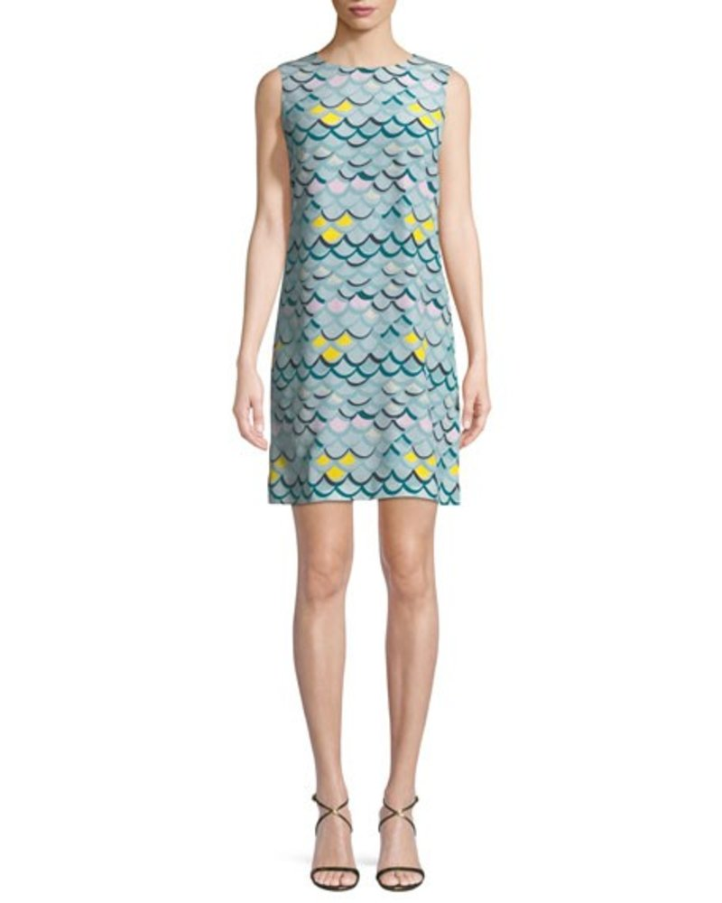 M MISSONI WAVE PRINT TANK MINI DRESS