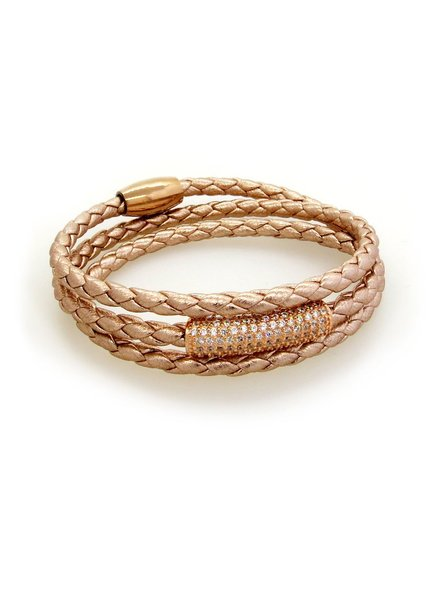 LIZA SCHWARTZ TRIPLE WRAP BRACELET IN ROSE GOLD