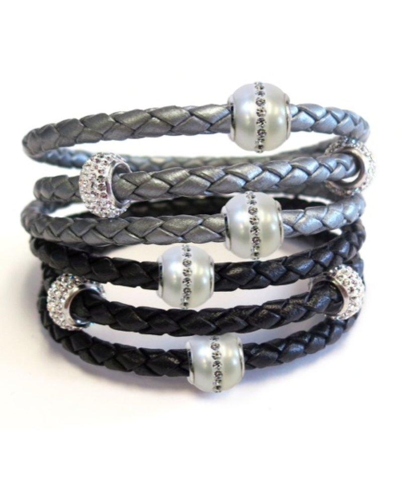 Liza Schwartz Silver Triple Wrap Bracelet