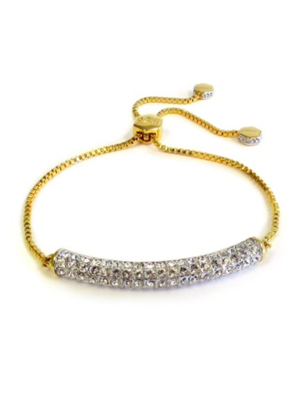 LIZA SCHWARTZ ELEGANT BAR BRACELET IN GOLD