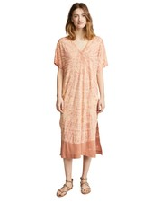 RAQUEL ALLEGRA V NECK BOXY DRESS