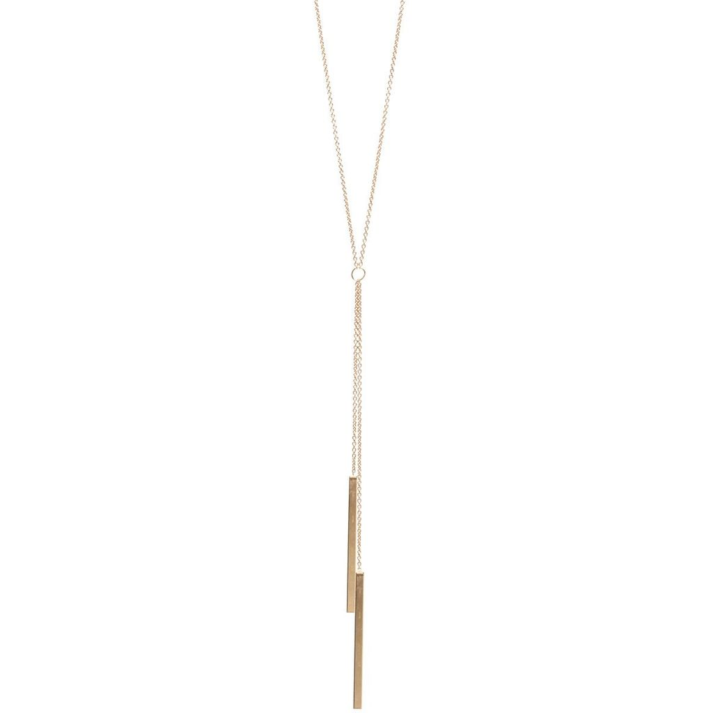 ZOE CHICCO TWO BAR LARIAT NECKLACE
