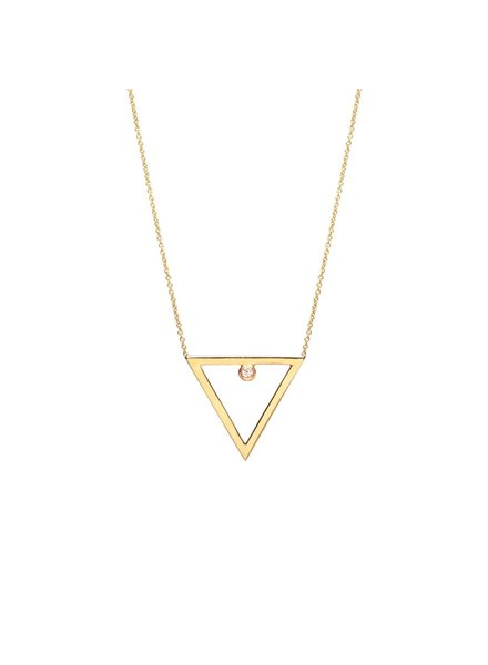 ZOE CHICCO OPEN TRIANGLE DIAMOND NECKLACE