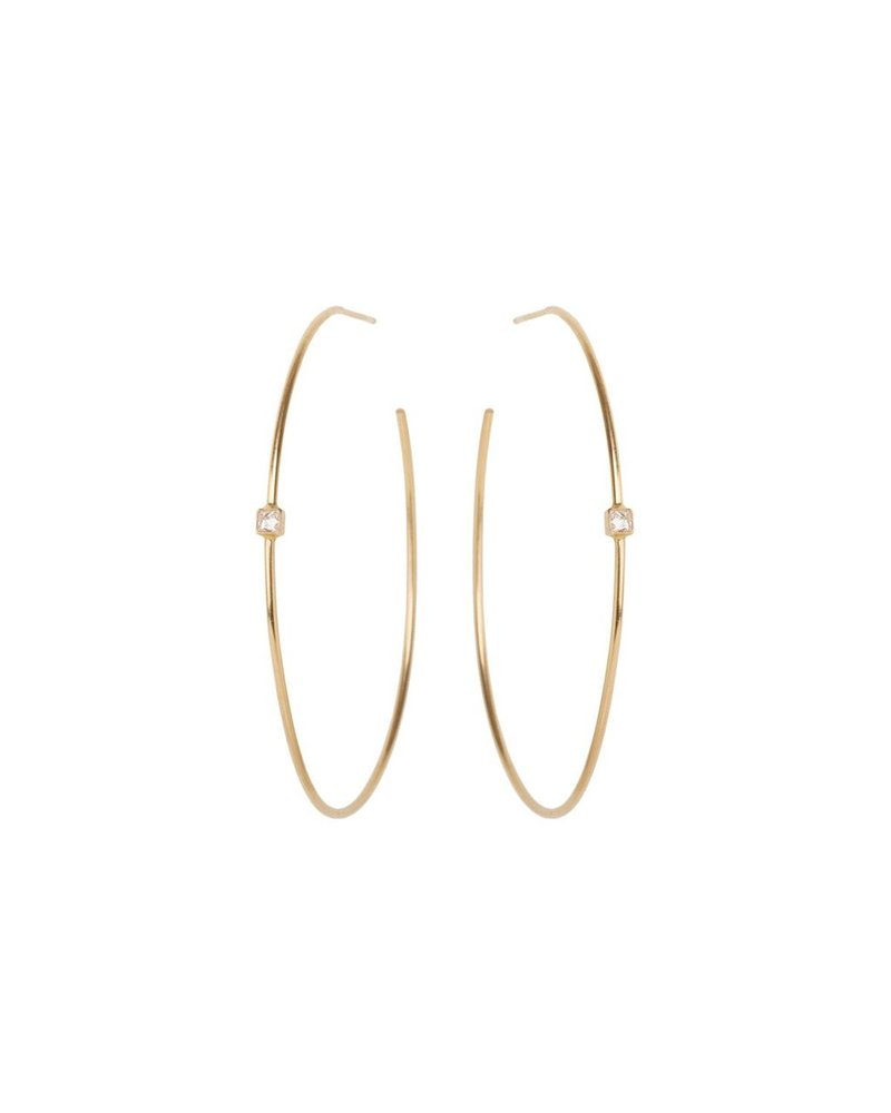 ZOE CHICCO GOLD HOOPS WITH SPIKES