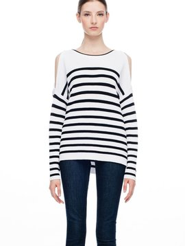 LINE ADELAINE COLD SHOULDER SWEATER